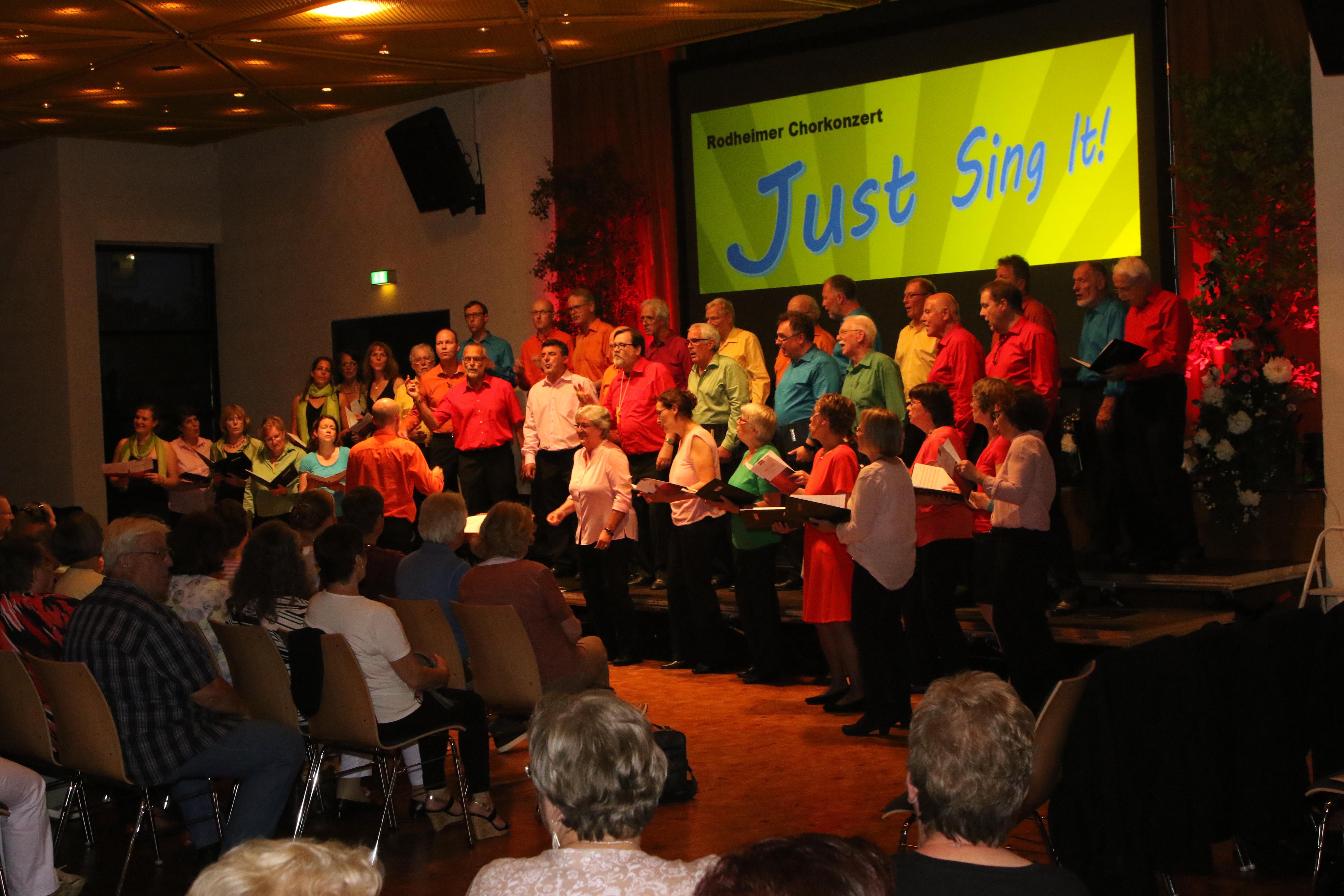 Just sing it Konzert